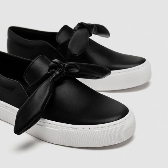 Zara Shoes   Zara Black Sneakers With